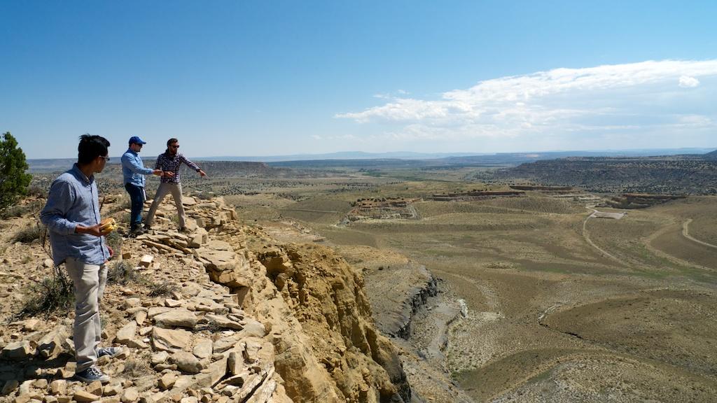Visiting Jackpile Mine site with Curtis Francisco, Laguna Pueblo.