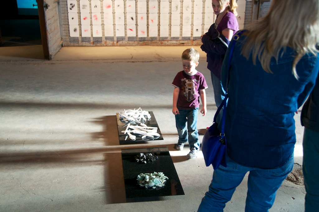 """""""Aftermath or Very Small Array"""" by Katy Chrisler at Land Arts 2012 Exhibition opening."""