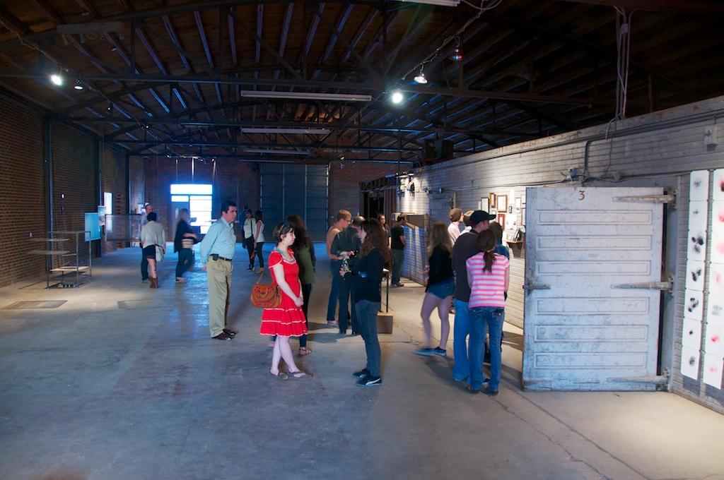 Land Arts 2012 Exhibition opening.