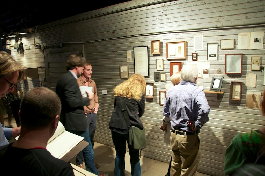 """Conversations"" by Nicholas Pierce, Land Arts 2012 Exhibition opening."