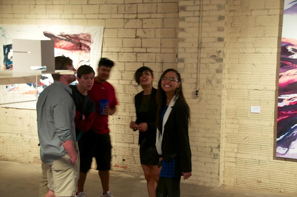 Jigga Patel and posse at the Land Arts 2012 Exhibition opening.