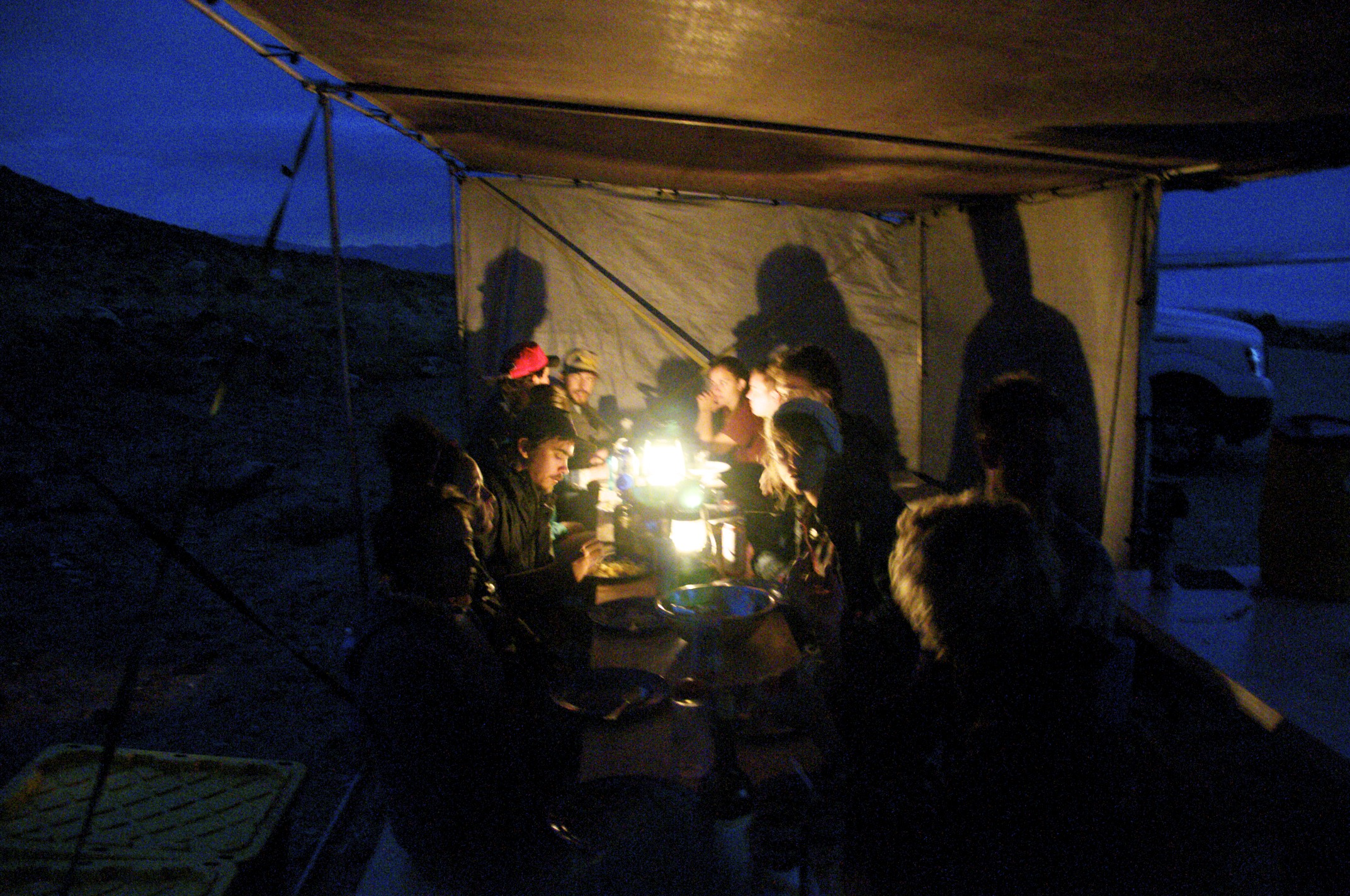 Dinner with Lori Ryker and Remote Studio at Rozel Point, Utah.