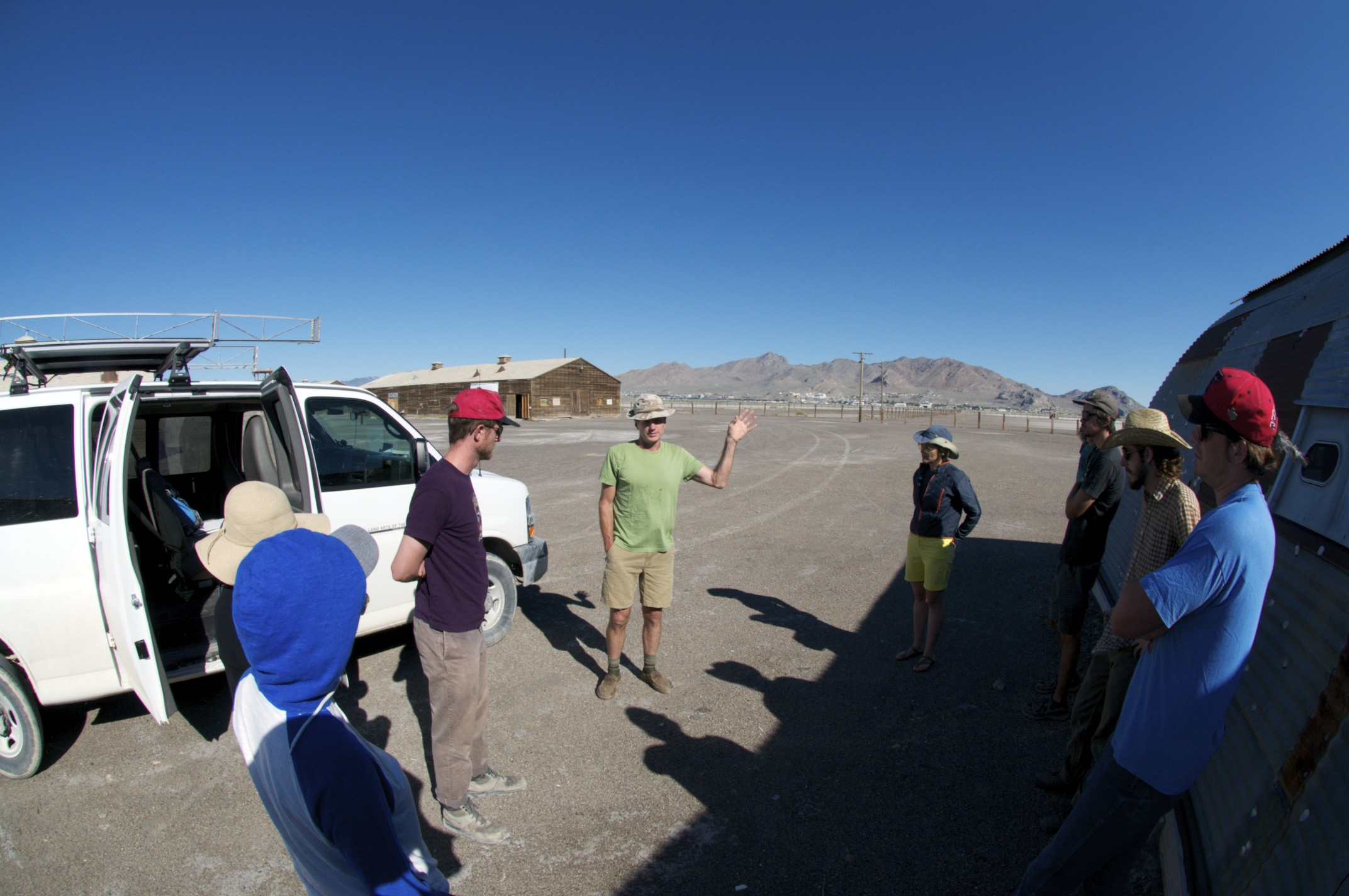 Steve Badgett orienting South Base, Wendover, Utah.