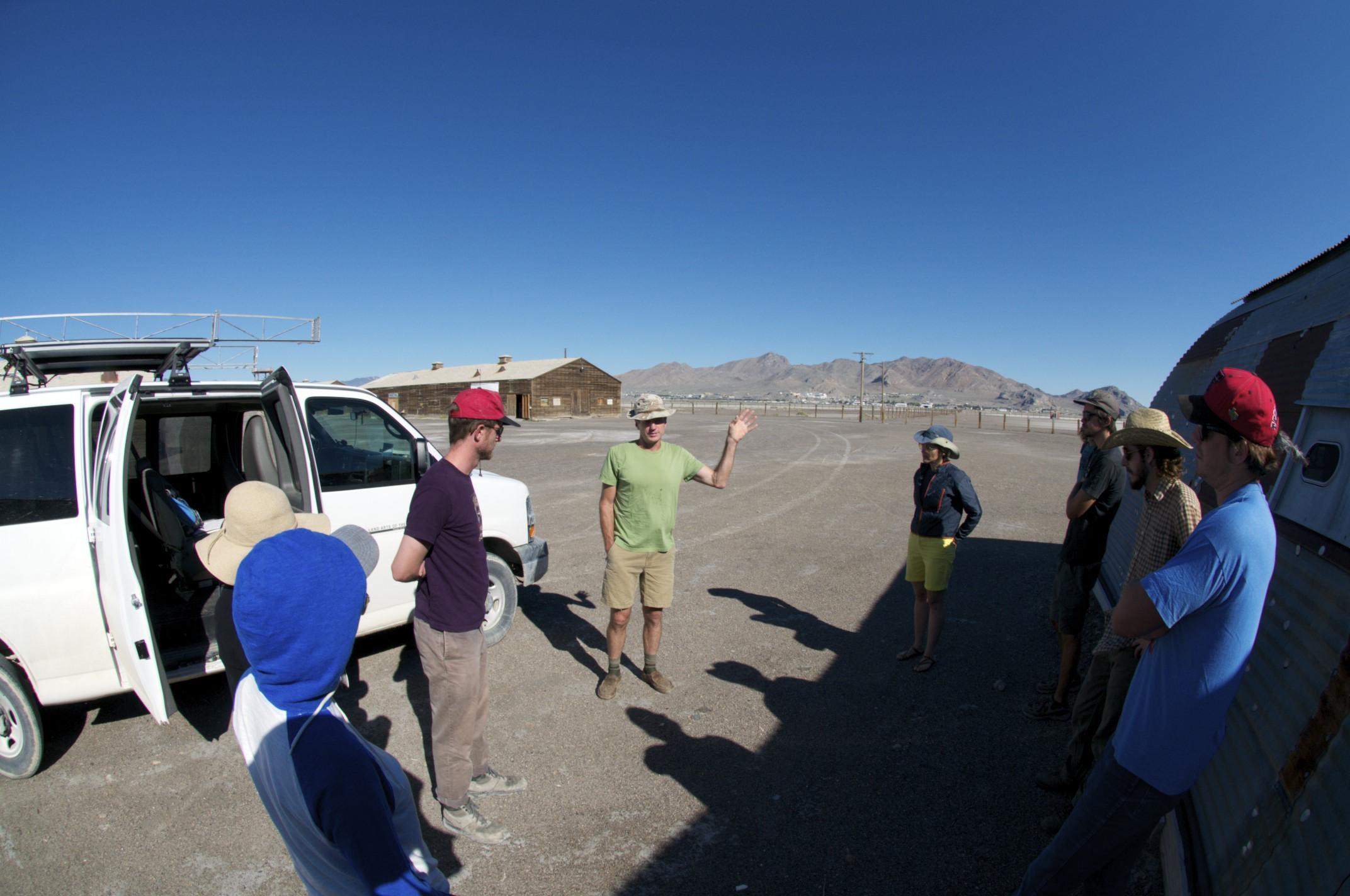 Steve Badgett orienting South Base, Wendover, Utah.