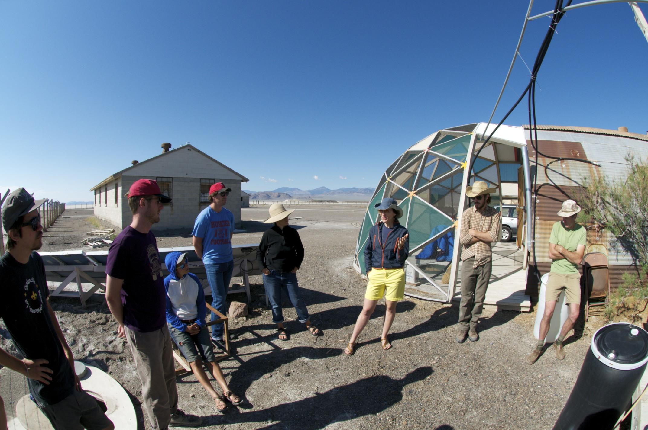 Deborah Stratman orienting South Base, Wendover, Utah.