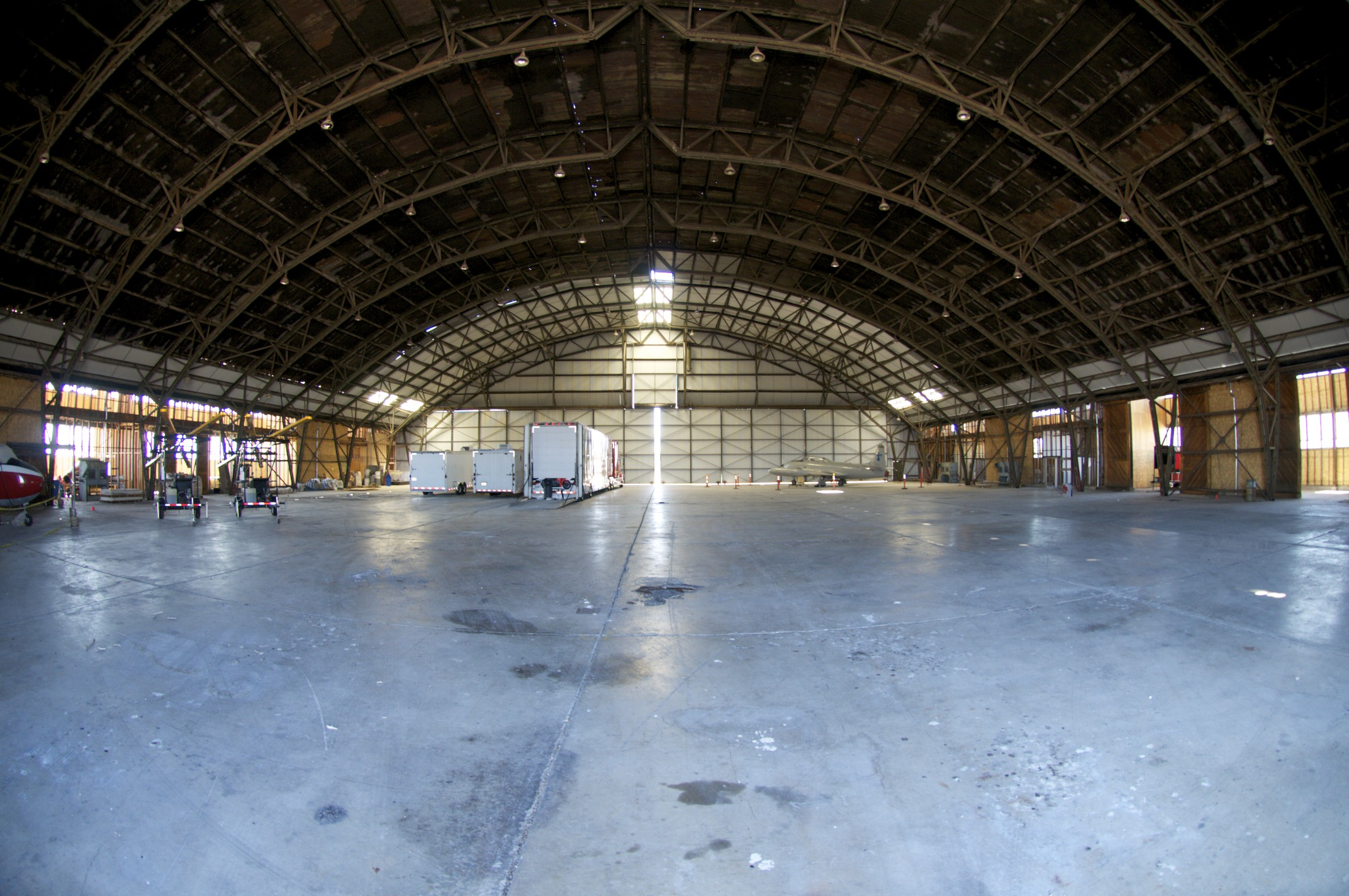 Inside the Enola Gay hanger, Wendover, Utah.