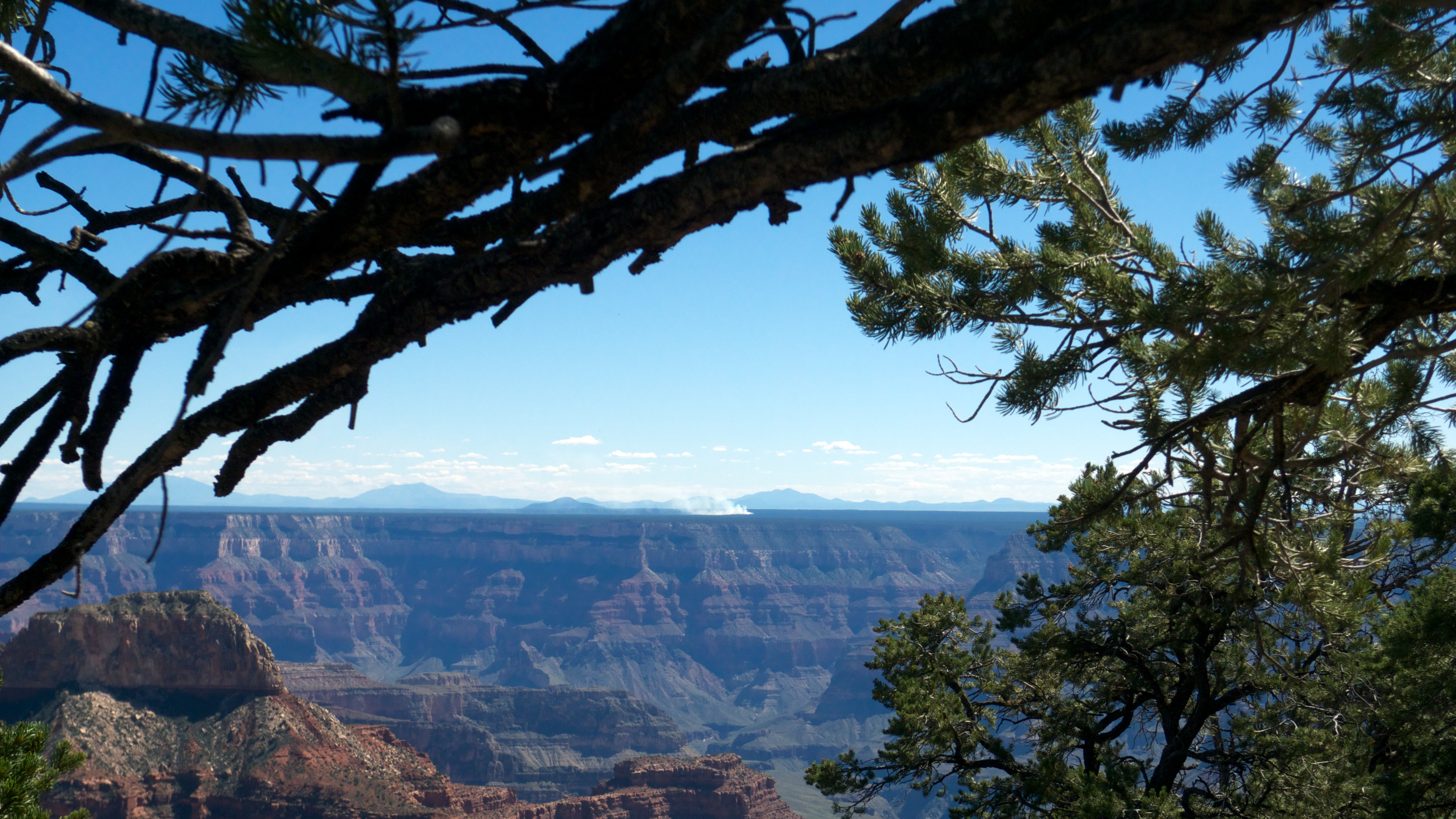 Fire on the south rim, Point Sublime, Arizona.