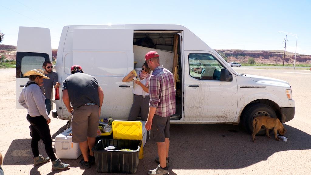 Roadside lunch, Tuba City, Arizona.