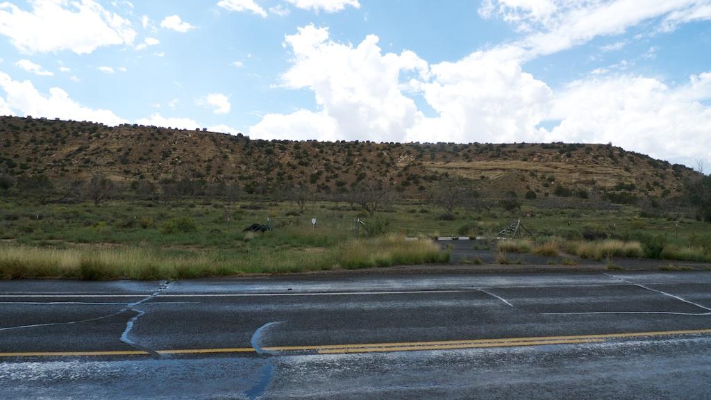 Former supervisor housing site within Jackpile Mine, Laguna Pueblo,