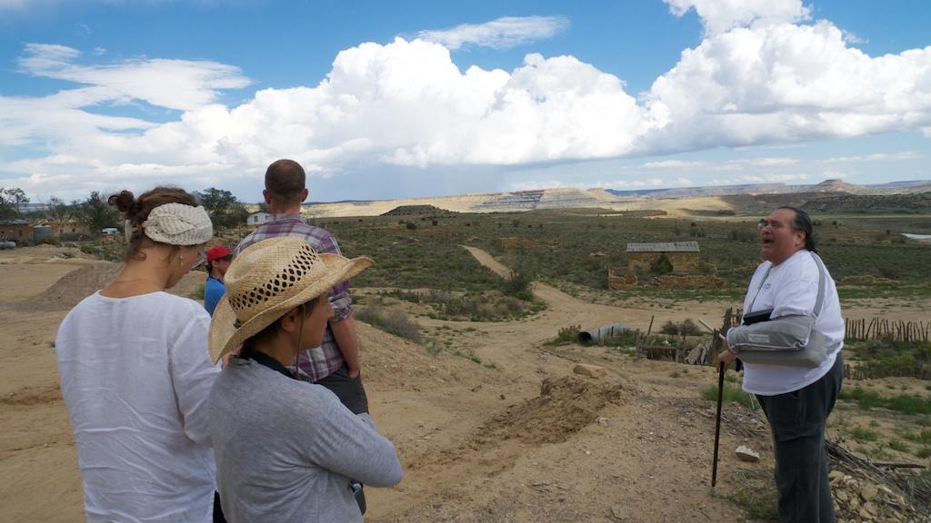 Near the edge of Jackpile Mine with Curtis Francisco, Paguate, Laguna Pueblo.