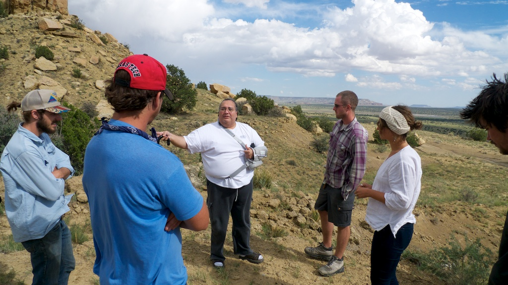 Jackpile mine overview with Curtis Francisco, Laguna Pueblo.