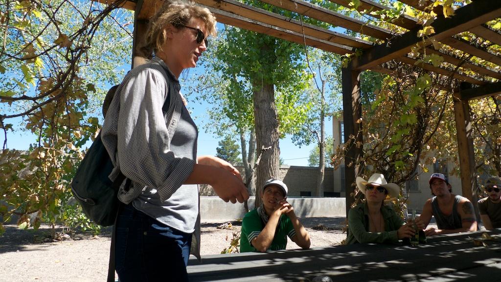 Touring the Judd Foundation with Jana La Brasca, Marfa, Texas.