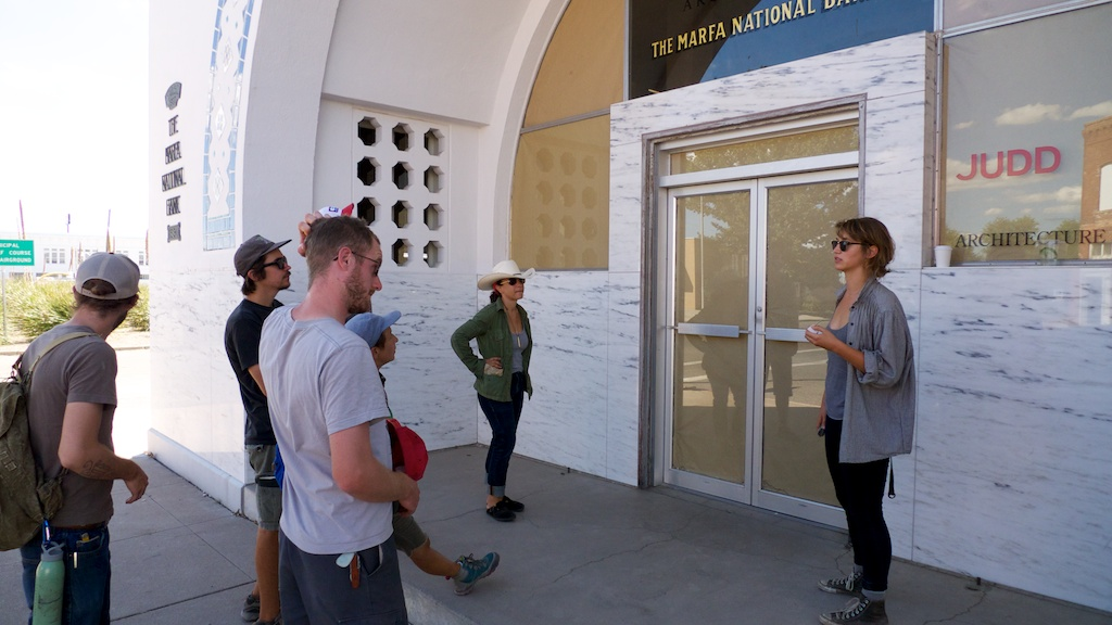 Touring the Judd Foundation with Jana La Brasca, Marfa, Texas.