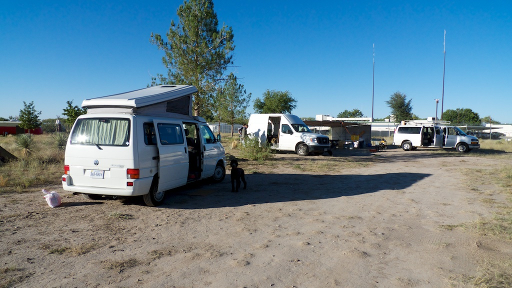 Base camp expands with Amy Hauft and Pickle, Marfa, Texas.