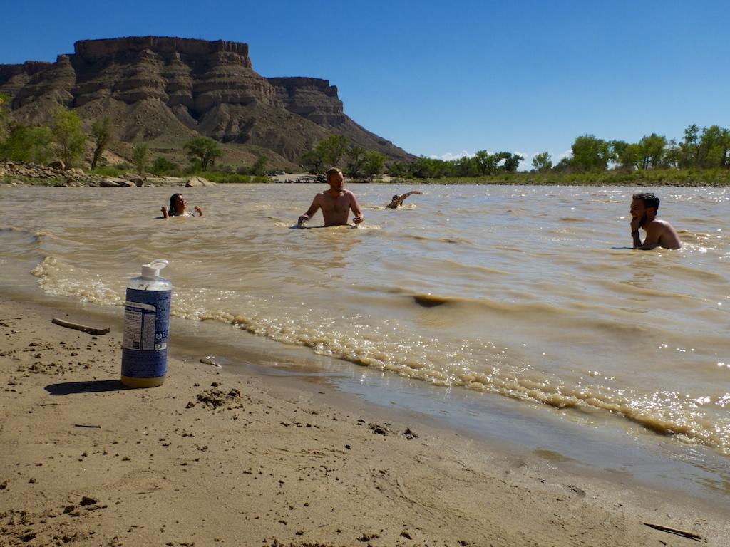 Green River bathing, Utah.