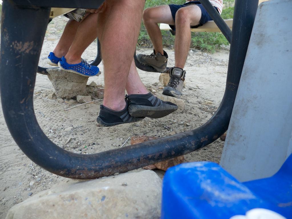 Dangling feet of slow washing, Green River, Utah.