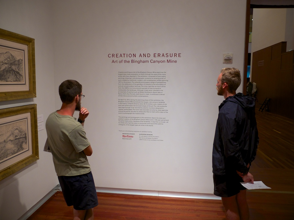 Bingham Canyon Mine exhibition at the Utah Museum of Fine Arts, Salt Lake City Utah.