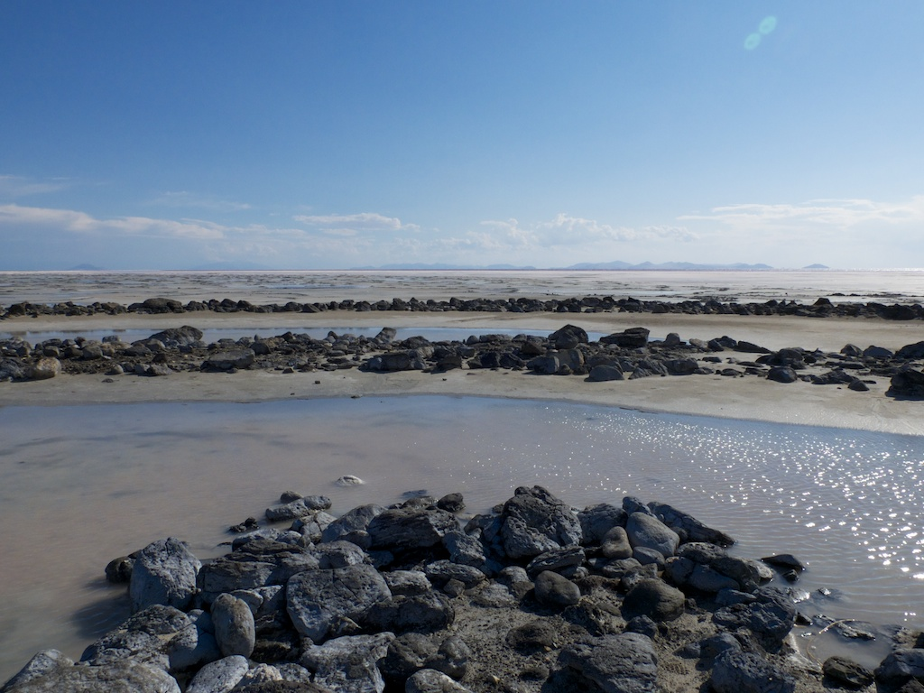 In the Spiral Jetty, Rozel Point, Utah.