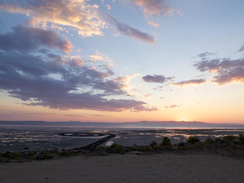 Days end, Rozel Point, Utah.