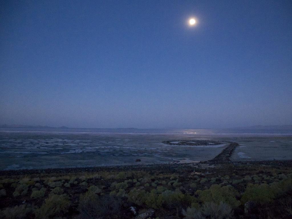 Moon shimmer, Rozel Point, Utah.