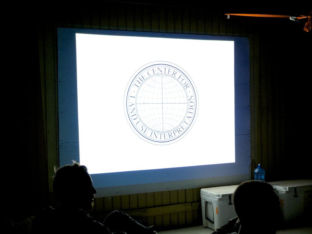 Matt Coolidge introducing the Center for Land Use Interpretation, Wendover, Utah.