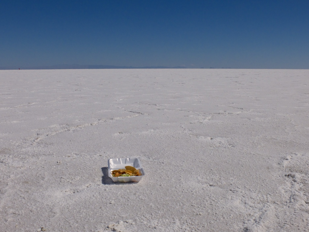Food beauty, Bonneville Salt Flats, Utah.