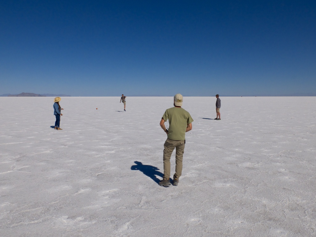 Flats ball, Bonneville Salt Flats, Utah.