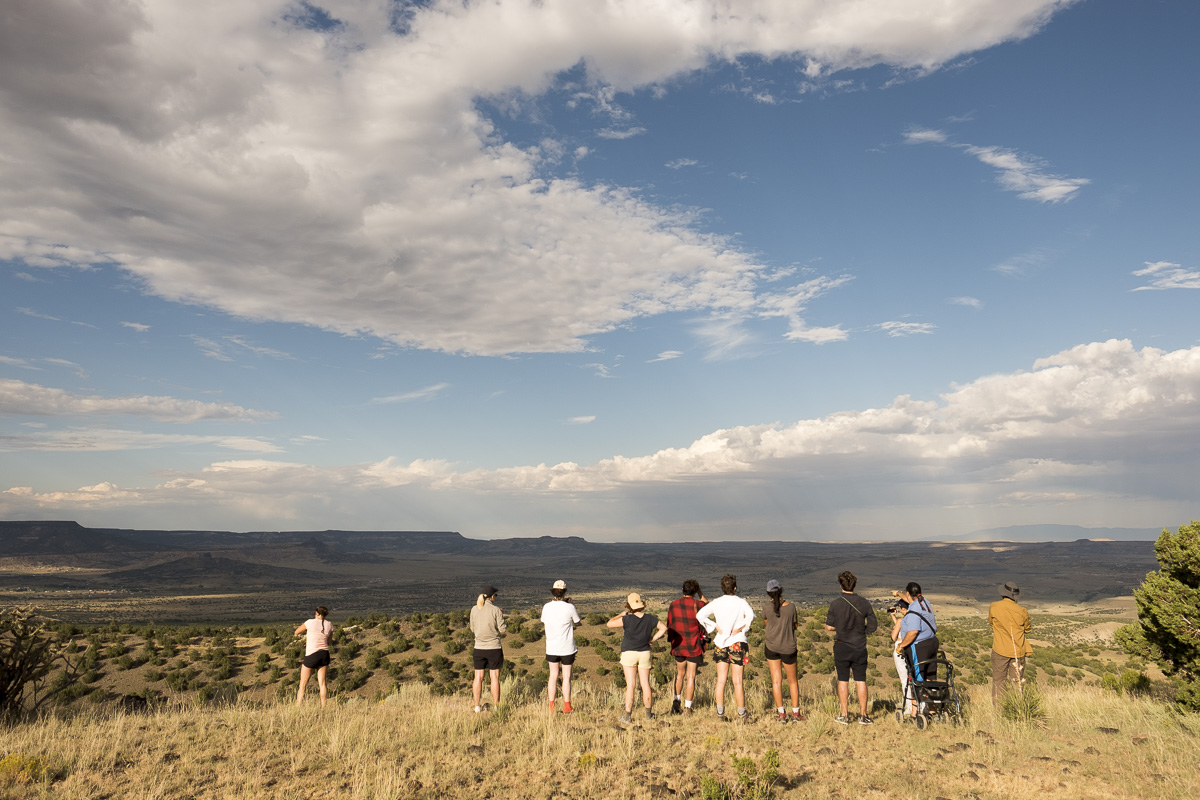 On the mesa overlooking the valley that contains Jackpile Mine, Laguna Pueblo. Photo by Chris Taylor. 20190903_175720_landarts_cjt.jpg
